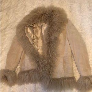 Pristine Danier Long Shearling Fur Jacket Medium